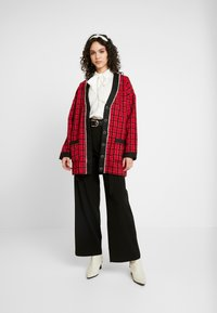 Sister Jane - CHECK LONGLINE CARDIGAN - Cardigan - red - 1