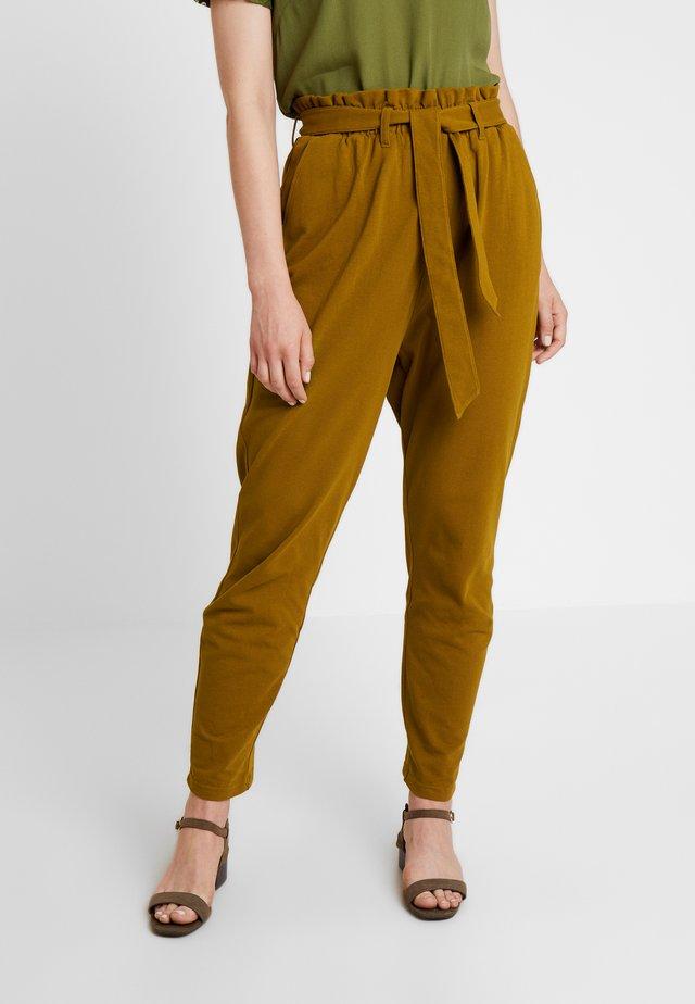 Trousers - dark ocher