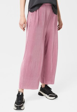 MIT PLISSEEFALTEN - Trousers - mauve