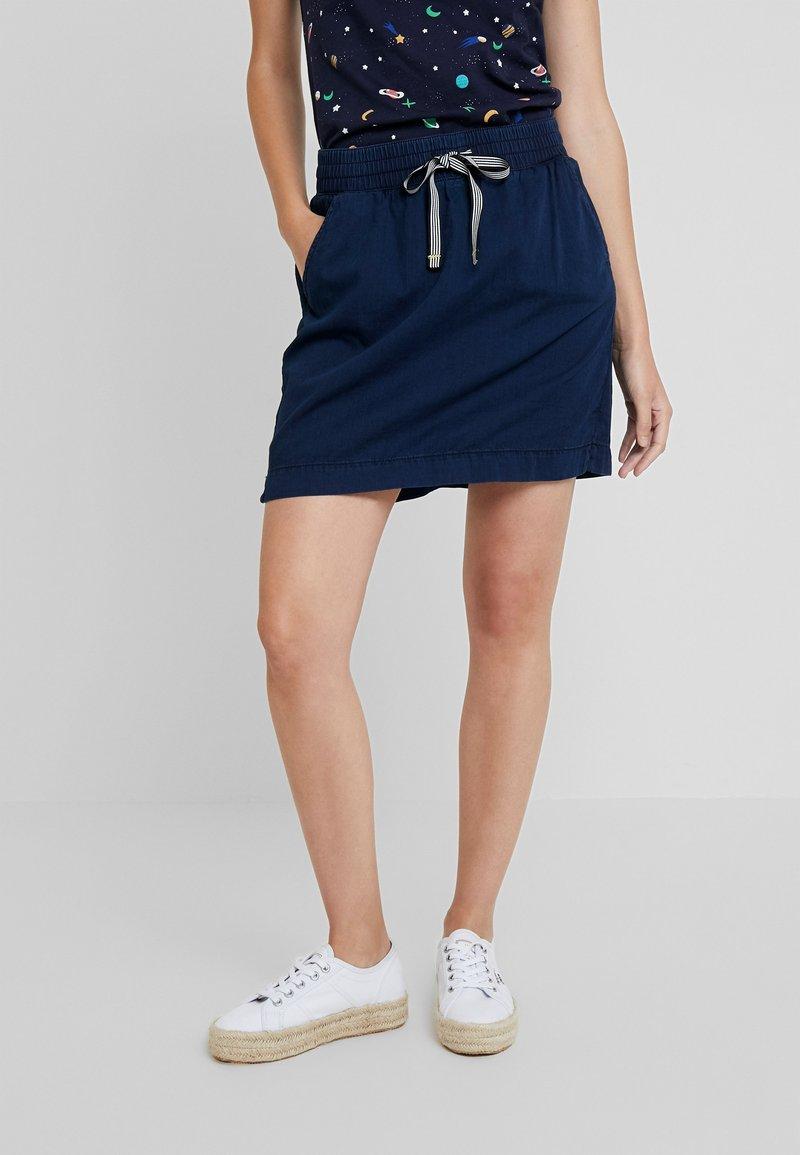 Q/S designed by - KURZ - Mini skirts  - blue denim
