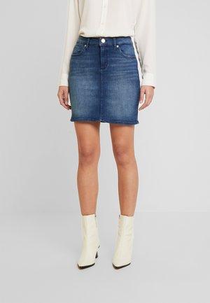 ROCK KURZ - Spódnica jeansowa - blue denim