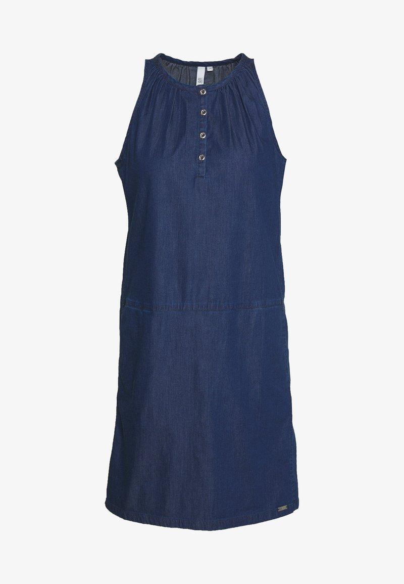 Q/S designed by - KURZ - Sukienka jeansowa - blue denim