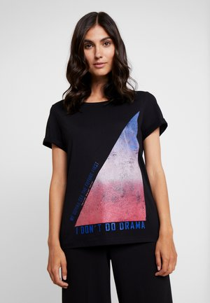 KURZARM - T-shirt med print - black plac