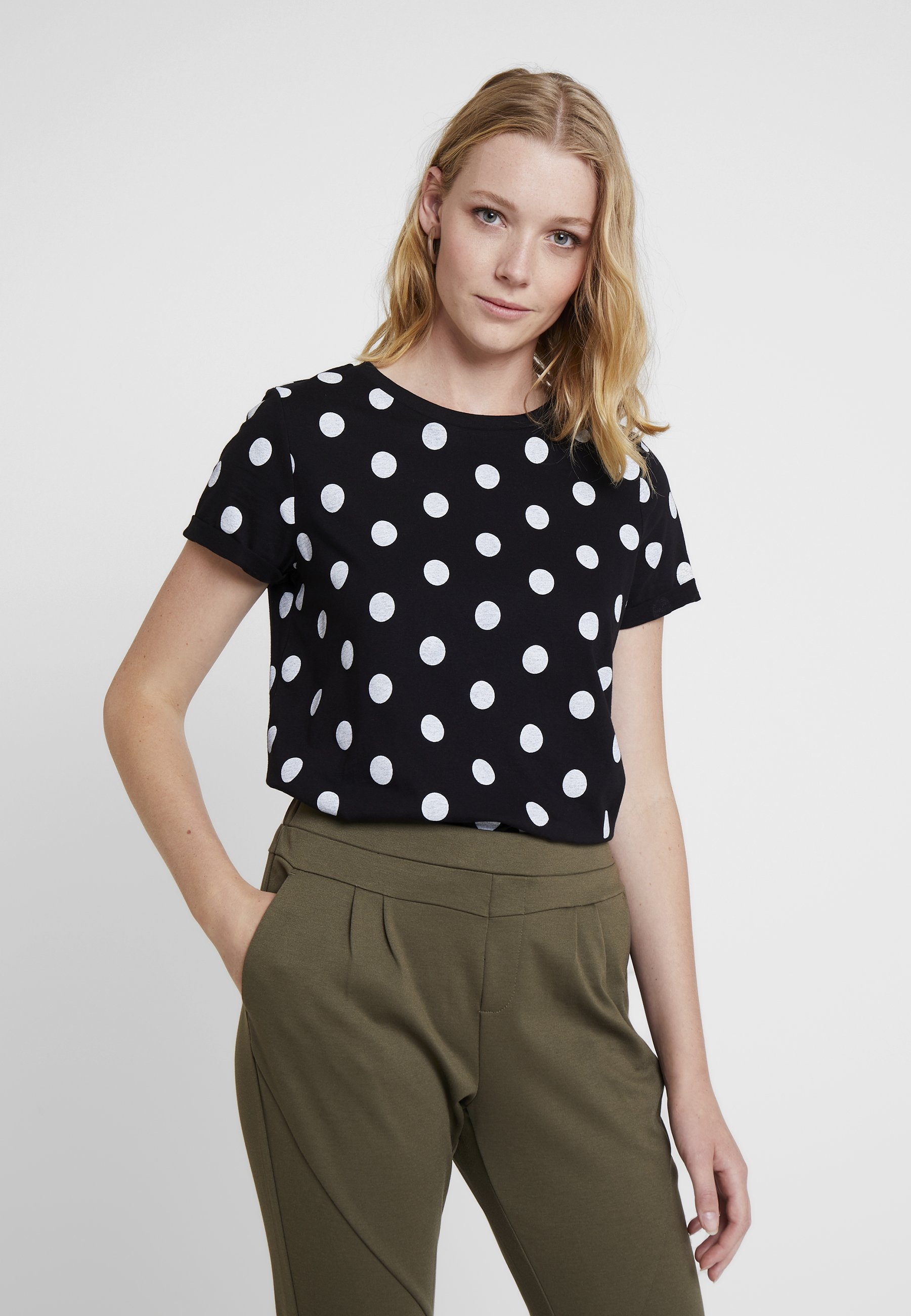 s Q Imprimé shirt By Black Designed KurzarmT v0OnwmN8