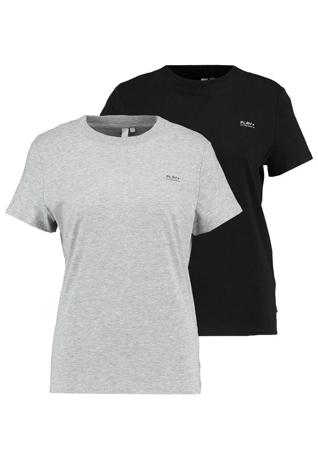 2 Pack - Print T-shirt - black