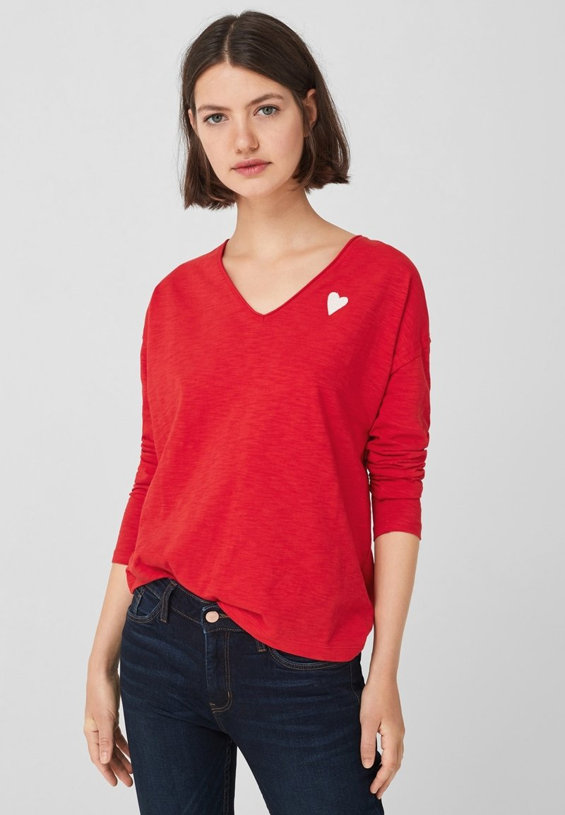 Q/S designed by - Long sleeved top - red