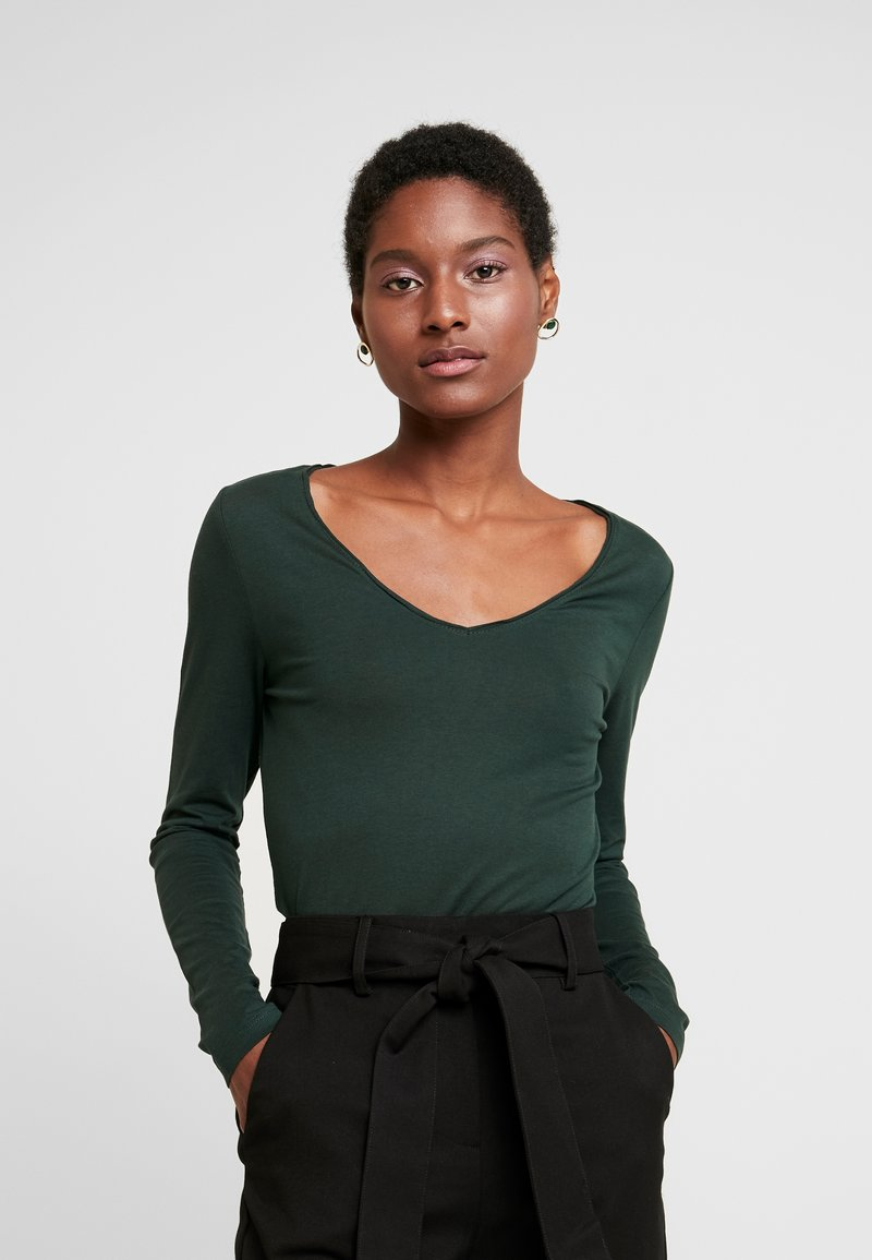 Q/S designed by - Long sleeved top - dark green