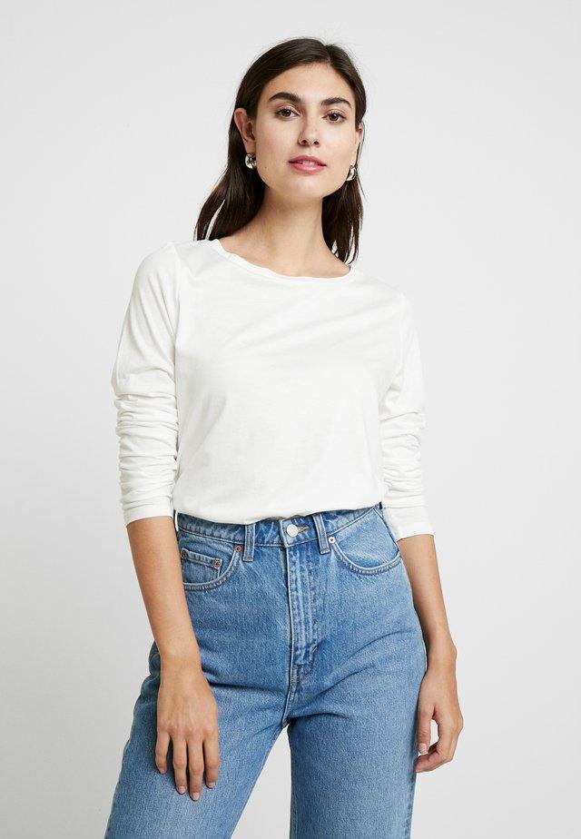 Langærmede T-shirts - ecru