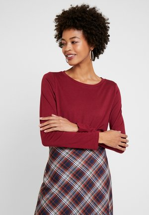 Long sleeved top - cabernet