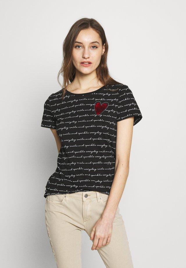 T-shirts print - black all