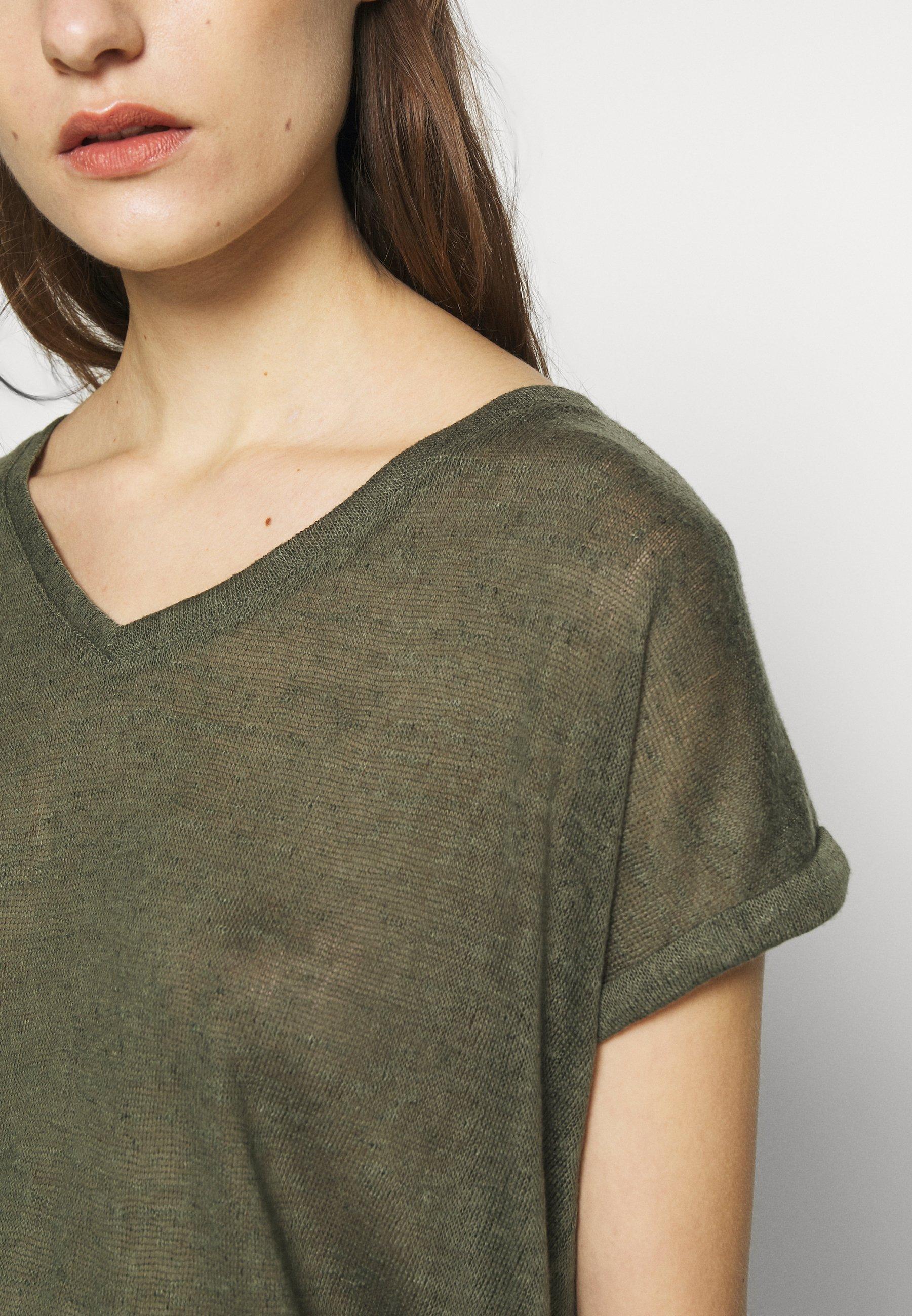 Q/S designed by T-shirt basic - olive