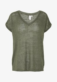 Q/S designed by - T-shirt basique - olive - 4