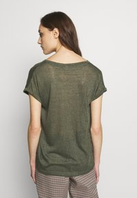 Q/S designed by - T-shirt basique - olive - 2