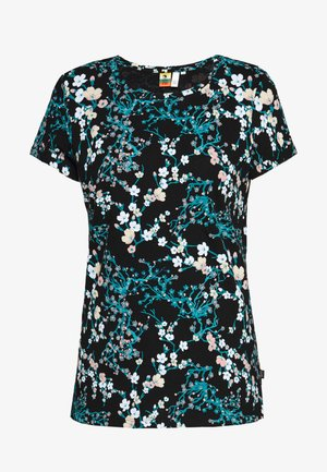 T-SHIRT KURZARM - Print T-shirt - black