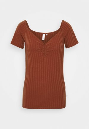 T-shirt con stampa - rust
