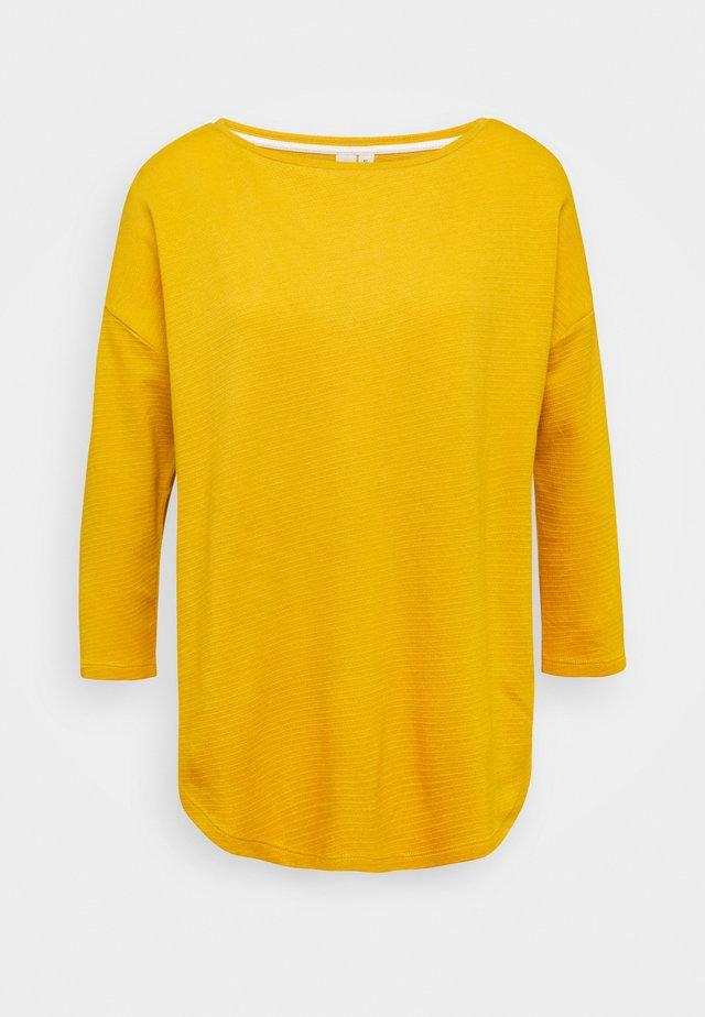 Top sdlouhým rukávem - golden yellow