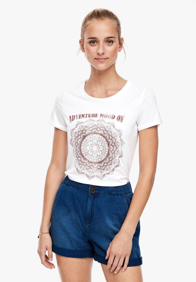 Print T-shirt - white placed print