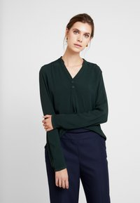 Q/S designed by - LANGARM - Blouse - dark green - 0