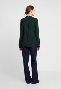 Q/S designed by - LANGARM - Blouse - dark green - 2