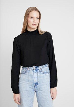 BLUSE LANGARM - Blusa - black