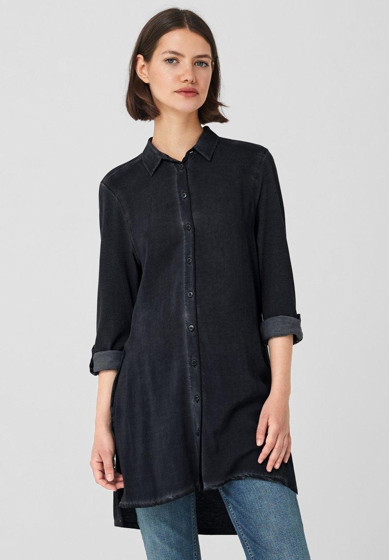 Q/S designed by - Button-down blouse - black