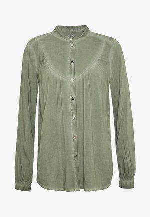 BLUSE - LANGARM - Camisa - olive