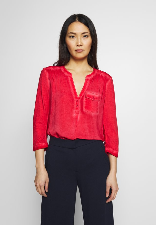 BLUSE 3/4 ARM - Blůza - red