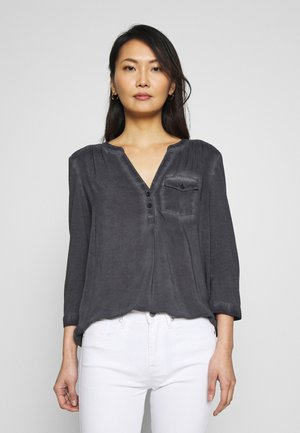 BLUSE 3/4 ARM - Bluzka - grey/black
