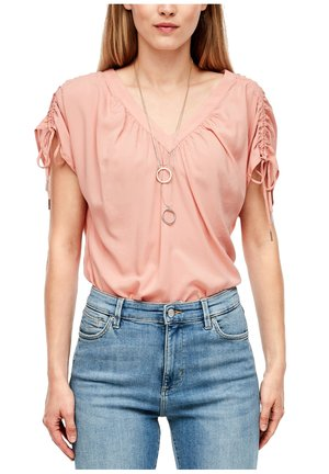 Blouse - coral rose