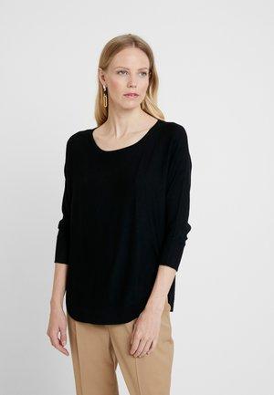 3/4 ARM - Stickad tröja - black