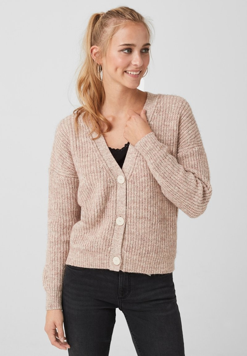 Q/S designed by - Cardigan - beige melange