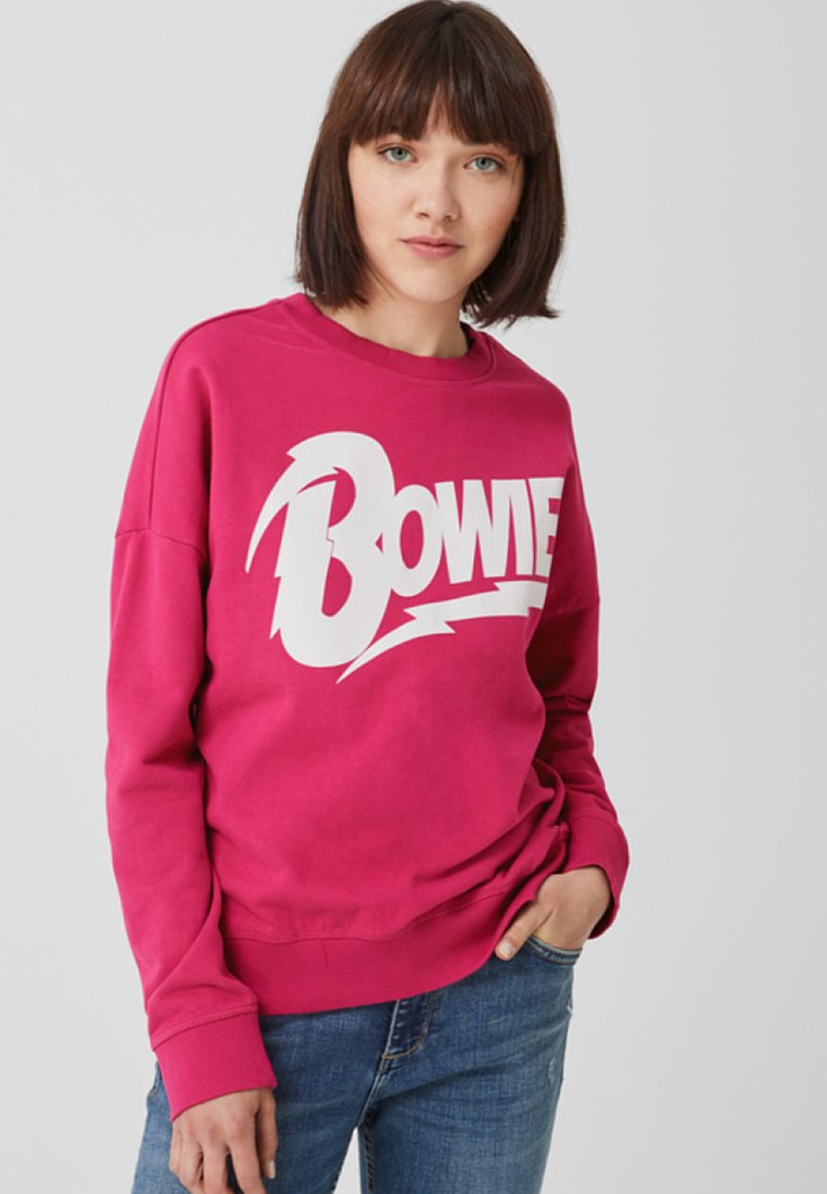 Q/S designed by - LANGARM - Sweatshirt - jazzy pink placed