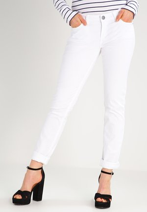 CATIE SLIM - Slim fit -farkut - white