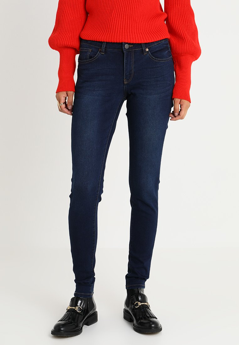 Q/S designed by - SUPER LEG - Jeans Skinny Fit - blue denim/heavy stone washed