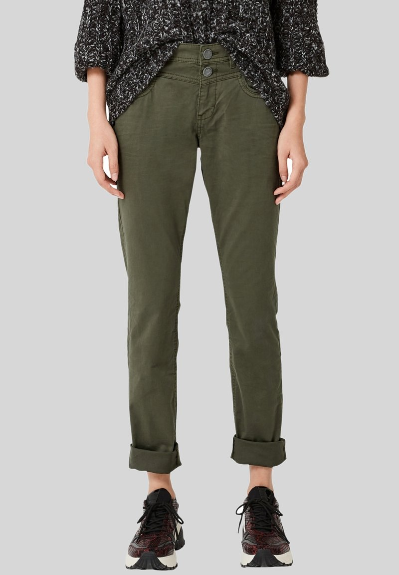 Q/S designed by - CATIE  - Jeans Straight Leg - olive