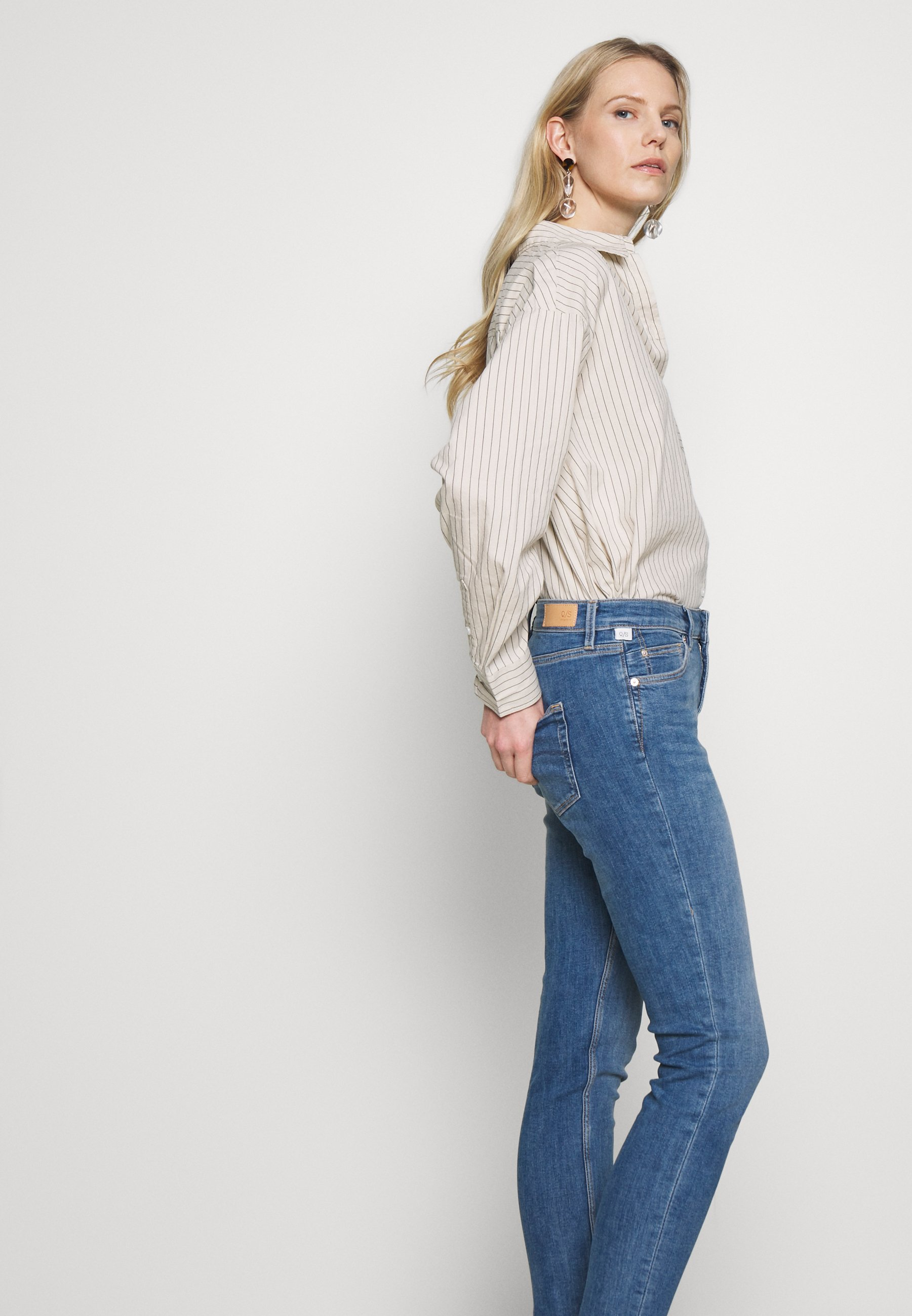 Q/S designed by LANG - Jeansy Skinny Fit - blue denim