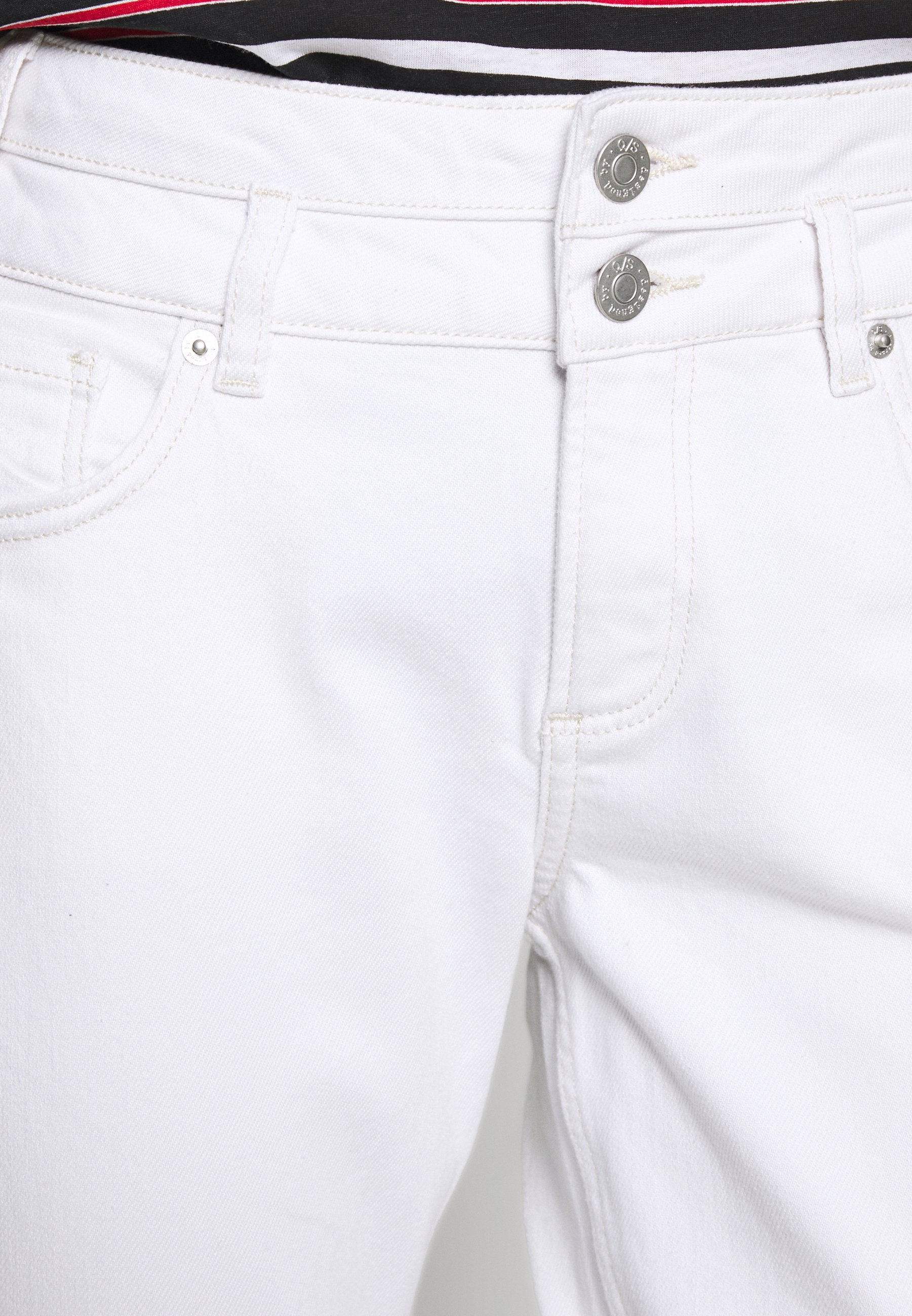 Q/S designed by Jeansy Slim Fit - white