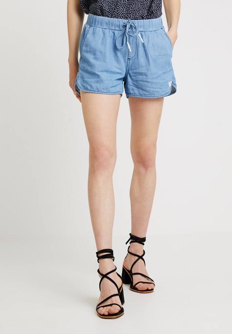 Q/S designed by - HOSE KURZ - Denim shorts - blue denim