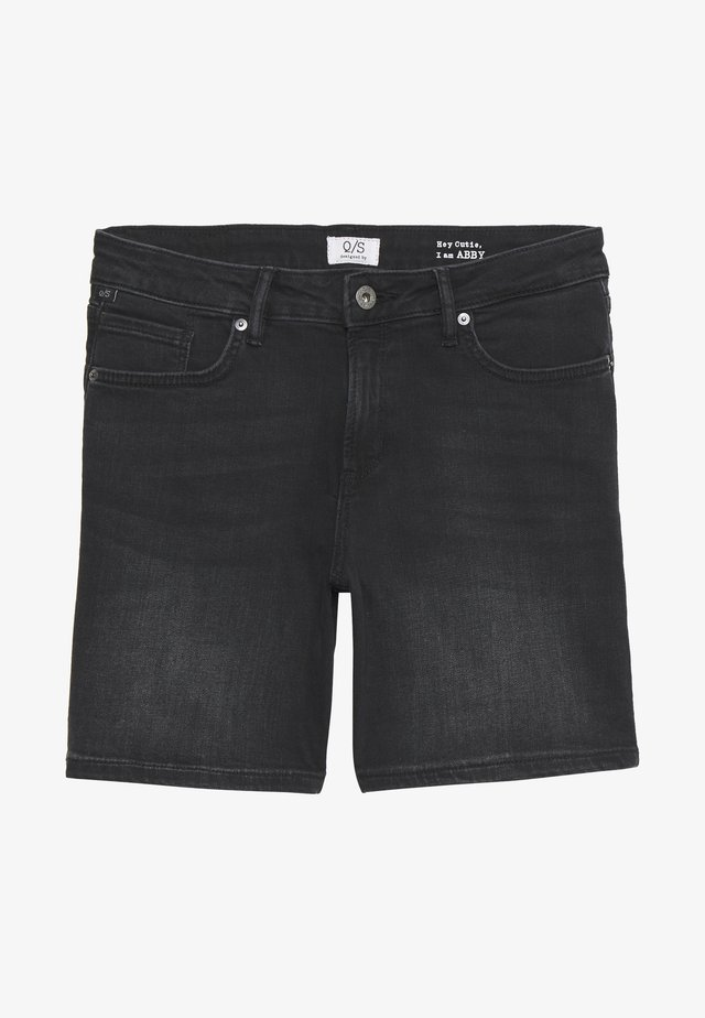 KURZ - Jeans Shorts - denim grey