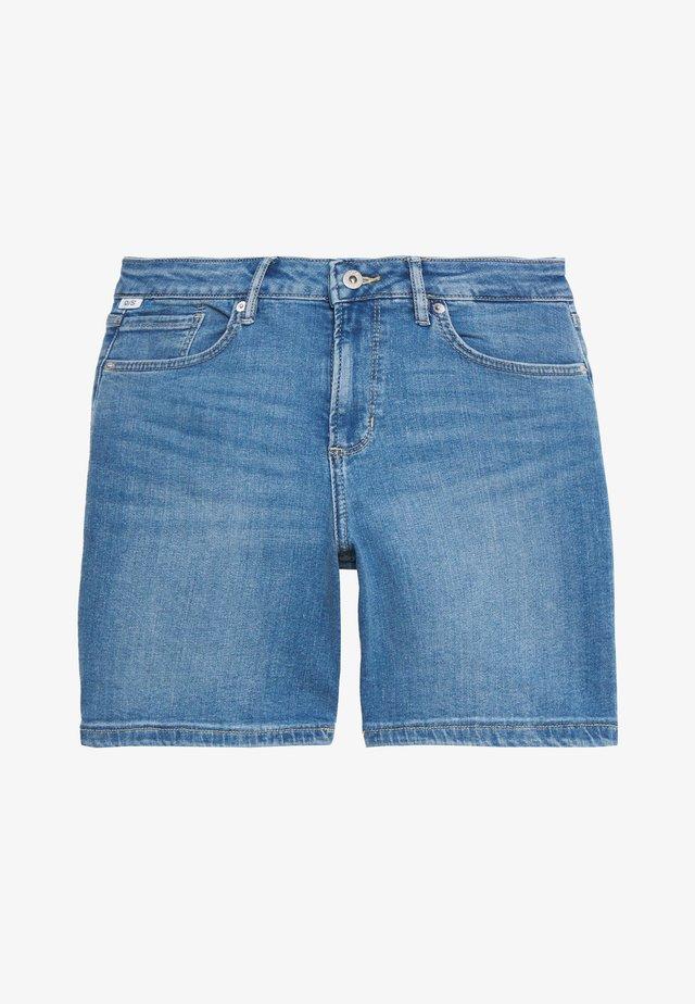 KURZ - Jeans Short / cowboy shorts - blue denim