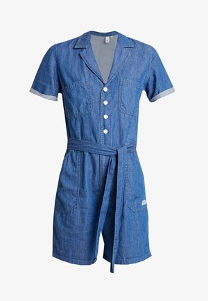 OVERALL KURZ - Jumpsuit - blue denim