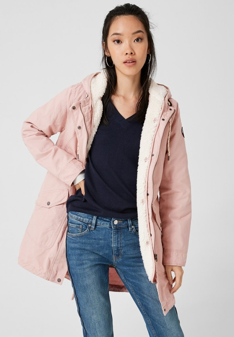 Q/S designed by - LANGARM - Parka - mellow pink