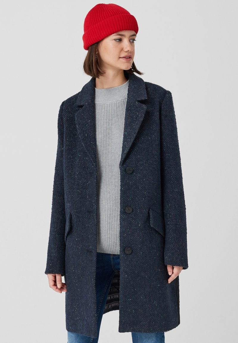 Q/S designed by - Classic coat - midnight blue