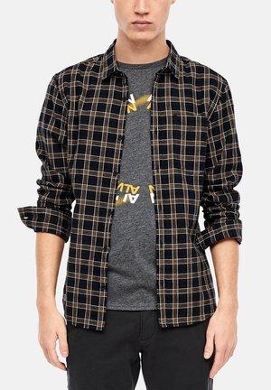 Shirt - navy/yellow