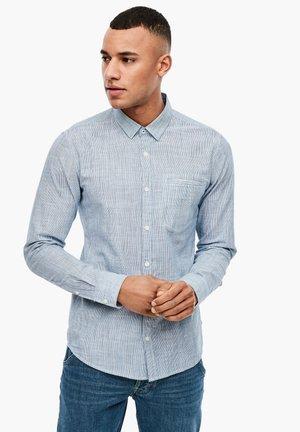 EXTRA SLIM: FEIN GESTREIFTES HEMD - Shirt - blue stripes
