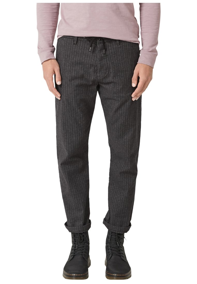 Q/S designed by - Trousers - black grey