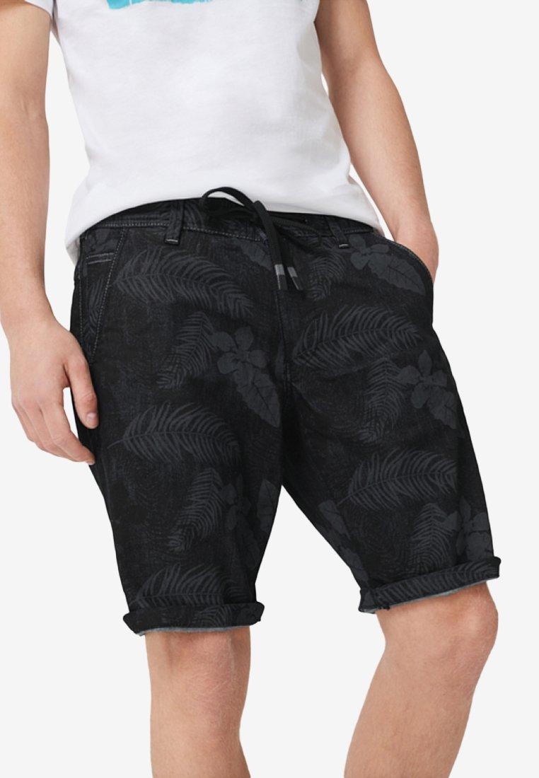 Q/S designed by - Shorts - black melange aop