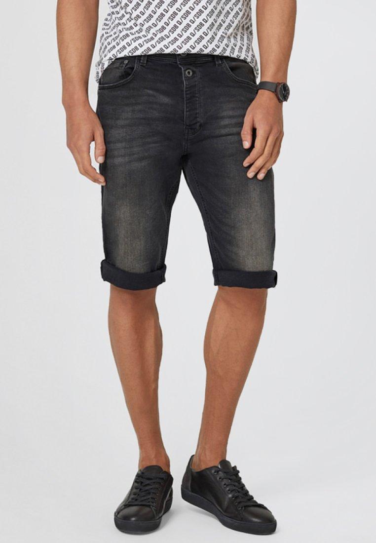 Q/S designed by - Denim shorts - dark grey