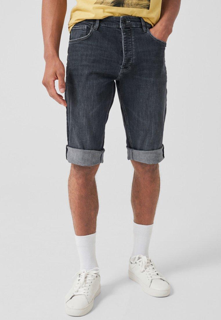 Q/S designed by - Jeans Shorts - dark grey denim