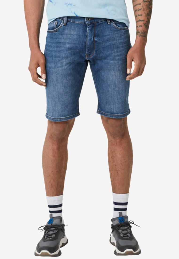 Q/S designed by - JOHN - Denim shorts - blue denim stretch